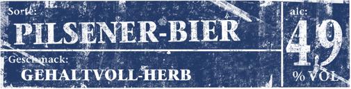 Kachelbild Pilsener-Bier