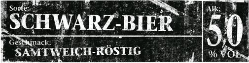 Kachelbild Schwarz-Bier
