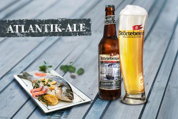 Das Störtebeker Atlantik-Ale, eine stürmisch frisch-herbe Brauspezialität.