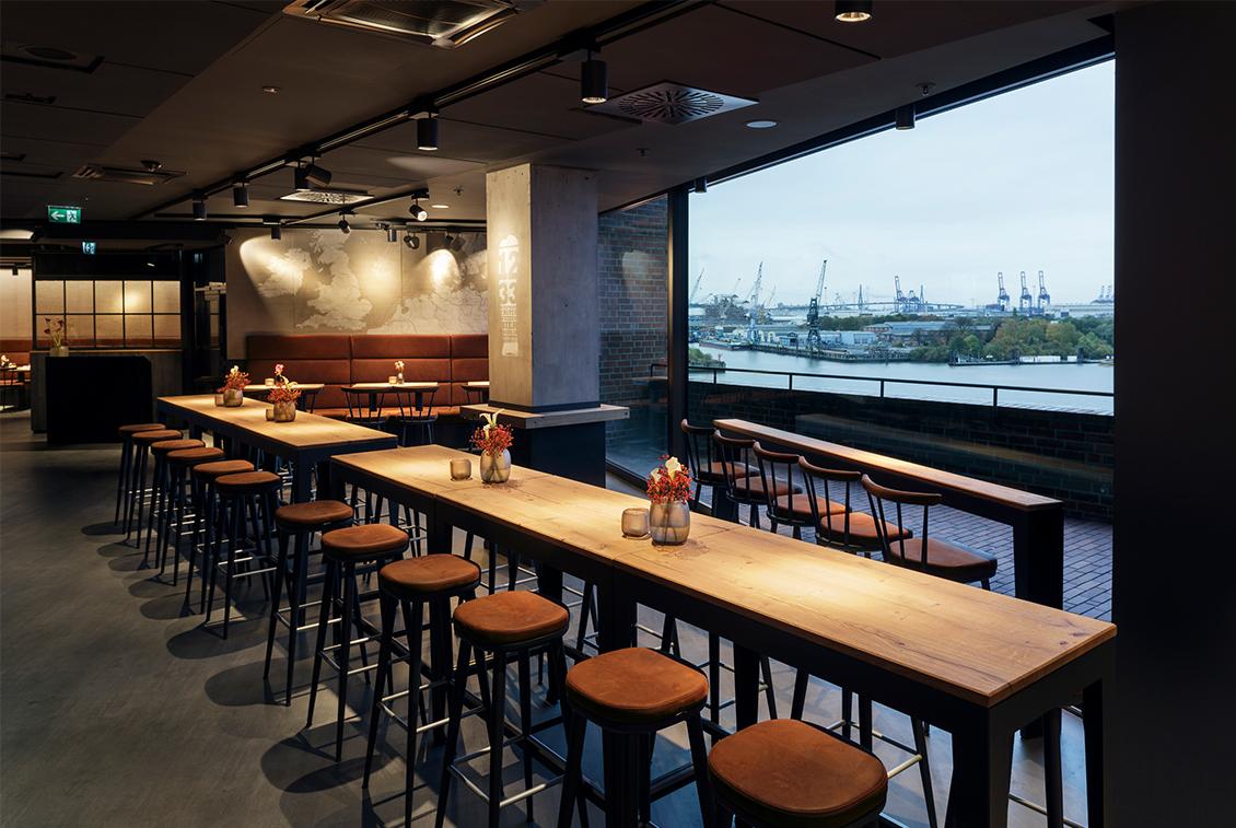 Das Restaurant Beer & Dine im 5. Obergeschoss