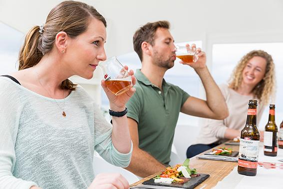 Die Schulung der eigenen Sensorik ist der wichtigste Aspekt im Biersommelier-Kurs.