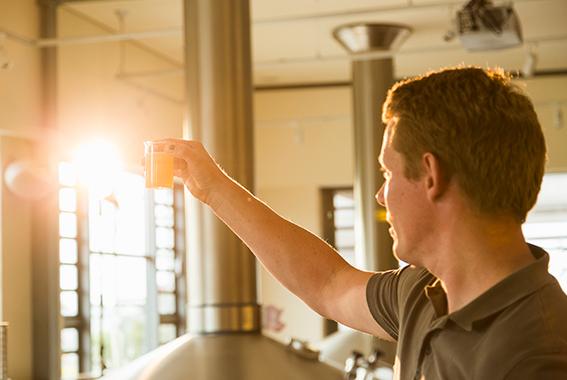 Die Qualitätskontrolle in der Brauerei ist nur ein Aufgabenfeld für Biersommeliers.