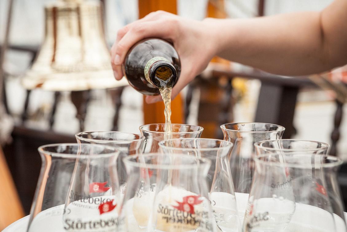 Als Aperitif: Störtebeker Keller-Bier 1402