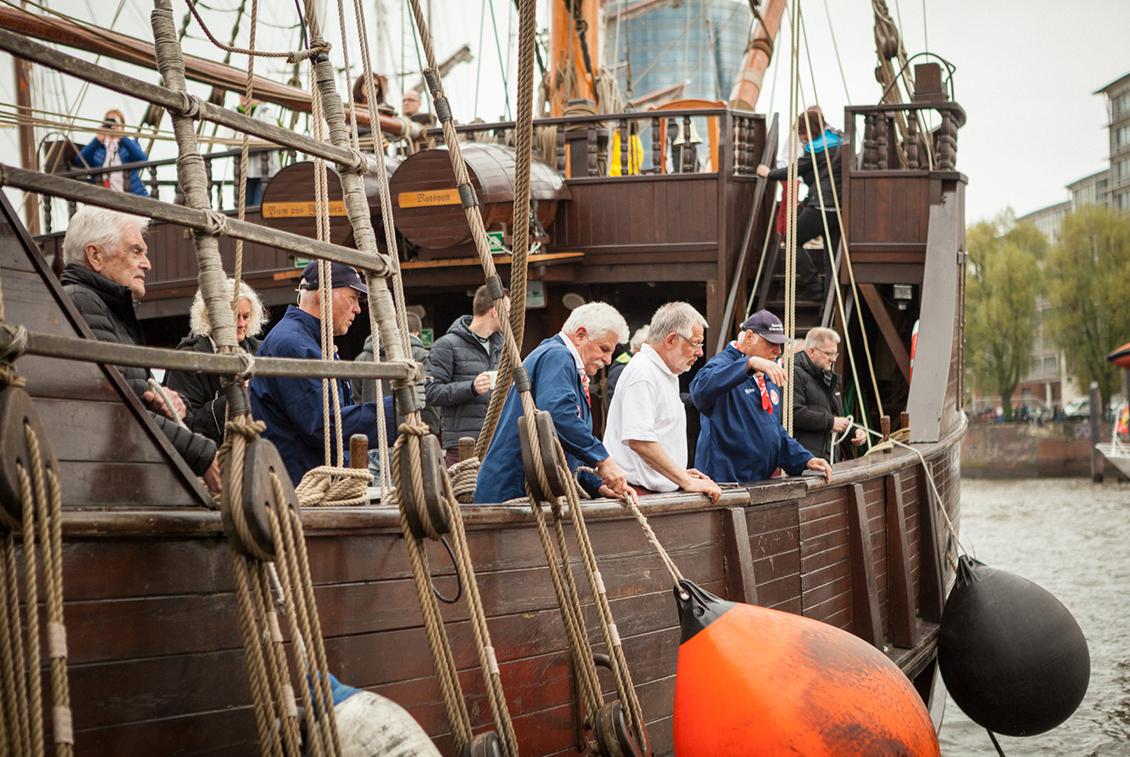 Insgesamt 5 Verkostungen an Bord fanden in diesem Jahr statt.