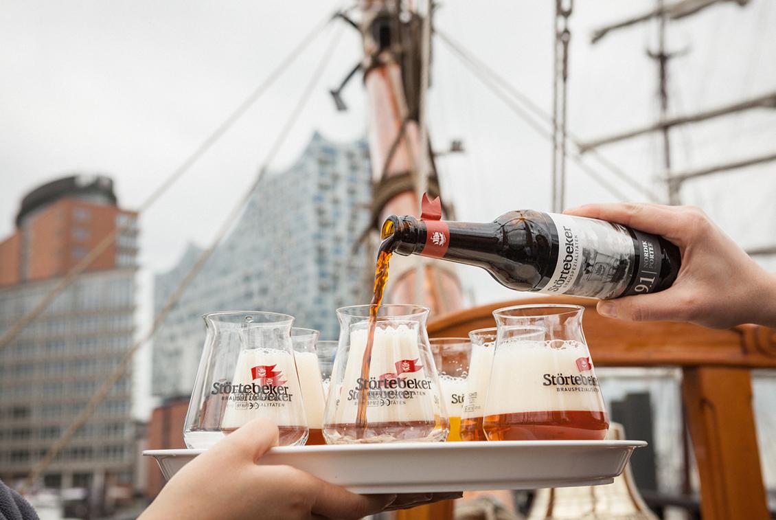 Mit dabei auf dem Hamburger Hafengeburtstag: die Eisbock-Biere