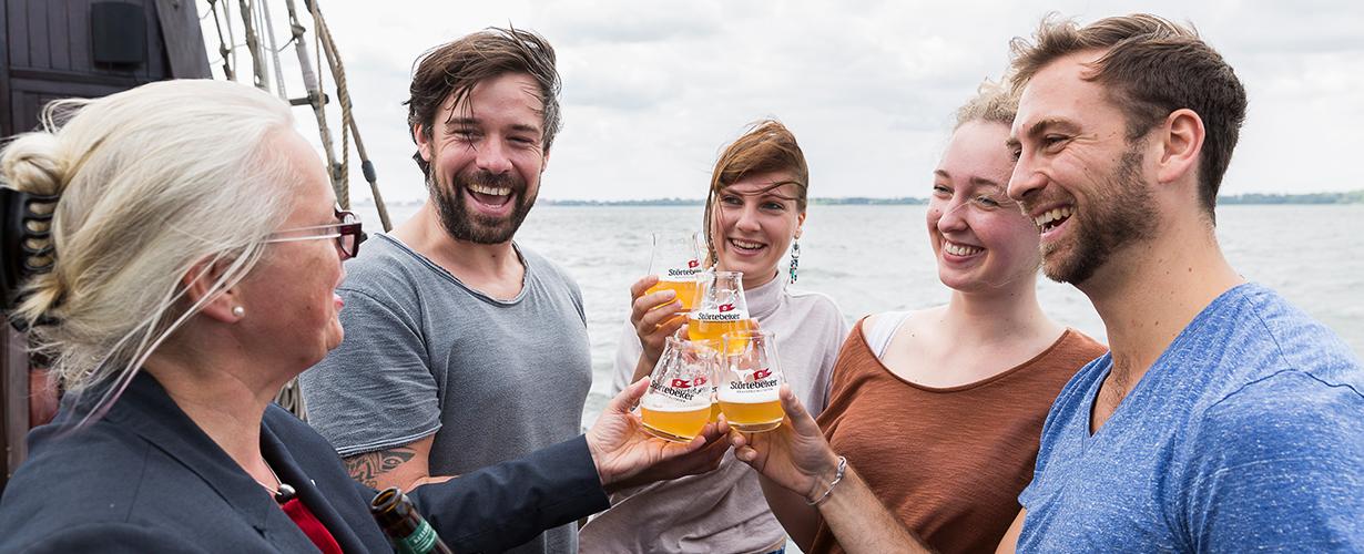 Störtebeker Bierverkostungen an Bord der Weissen Düne