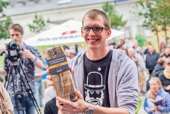 Nico Leffler ist der 1. Deutsche Meister der Hobbybrauer.