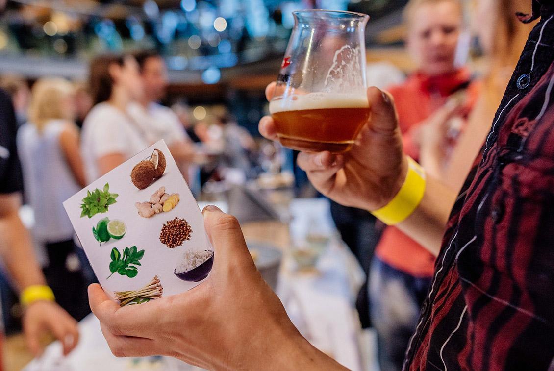 Einige Hobbybrauer präsentierten Biere mit ungewöhnlichen Zutaten.