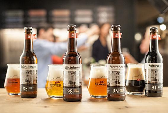 Die Störtebeker Gastronomie aus der Elbphilharmonie servierte verschiedene Speisen und unter anderem die Eisbock-Biere.
