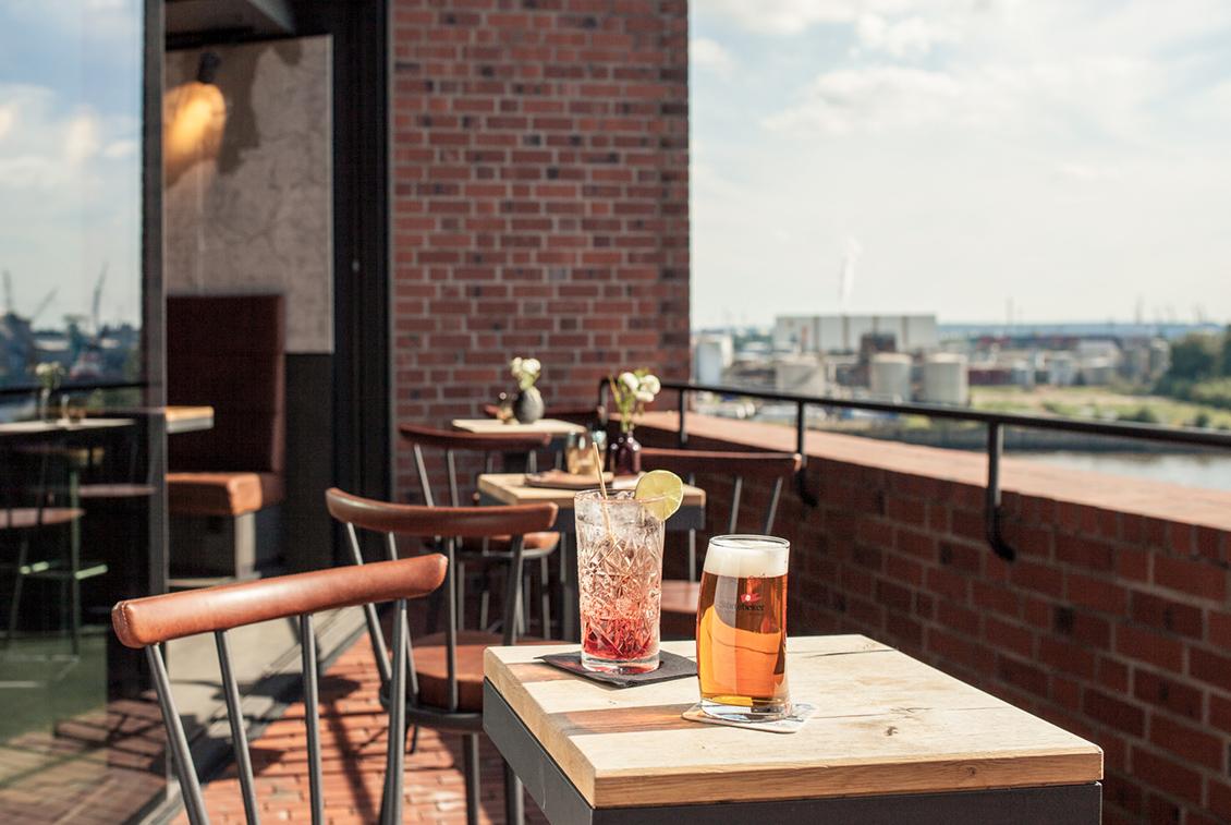 Die Terrasse im Beer & Dine