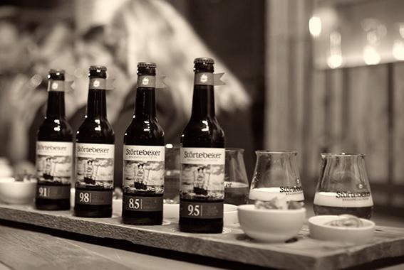 Insgesamt 4 verschiedene Störtebeker Eisbock-Biere gibt es seit November 2016.