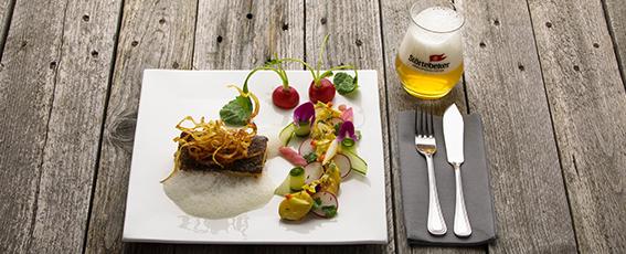 Unsere Empfehlung zum Atlantik-Ale: Dorschfilet an Kartoffelsalat
