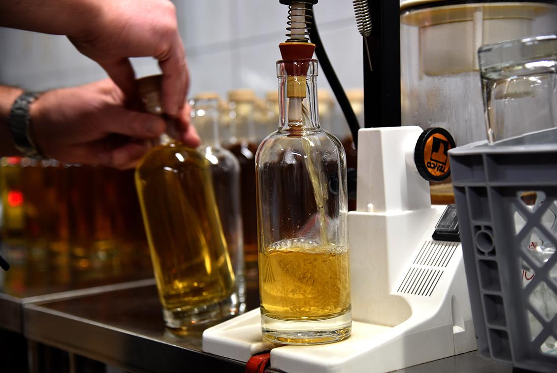 Die Flaschen wurden nach dem Single-Cask-Prinzip abgefüllt.