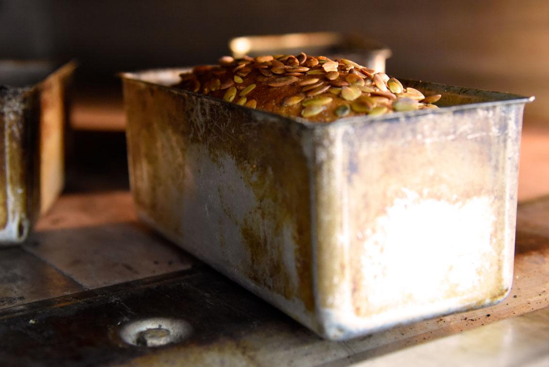 Das leckere Brot erfreut sich auch bei den Gästen des Braugasthauses einer großen Beliebtheit.