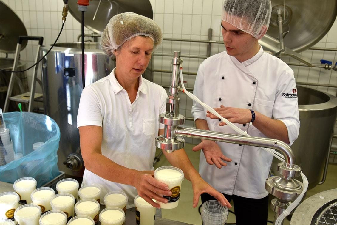 Bis zu 12.000 Liter Milch werden hier pro Woche verarbeitet.
