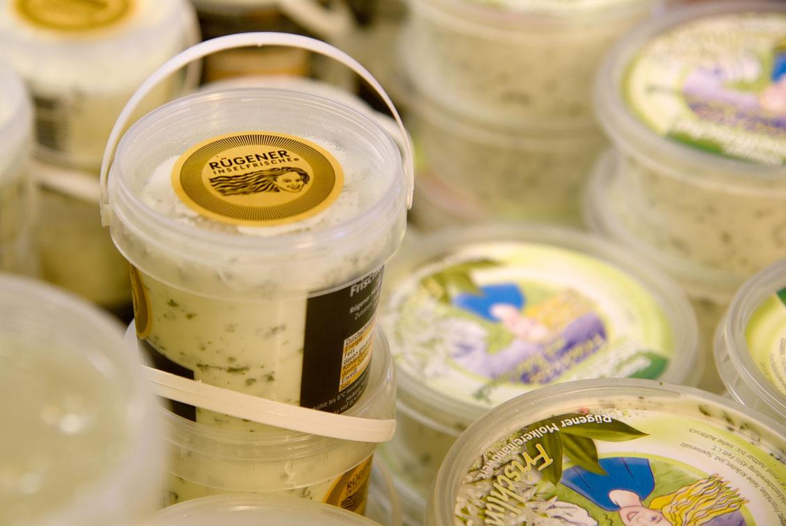 Im Handel findet man die Produkte der Rügener Inselfrische zum Teil weit über die Grenzen MVs hinaus.
