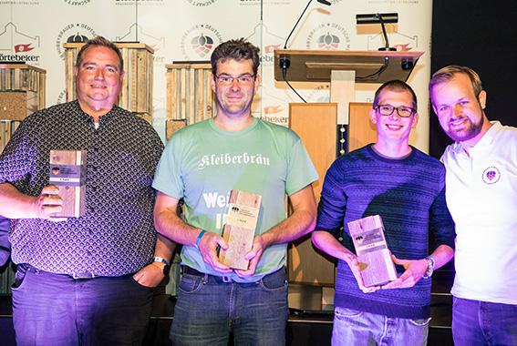 Die Sieger bei der 2. Deutschen Meisterschaft der Hobbybrauer
