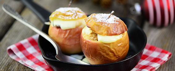 Dessert: Variation vom Rügener Apfelhain kleiner Bratapfel
