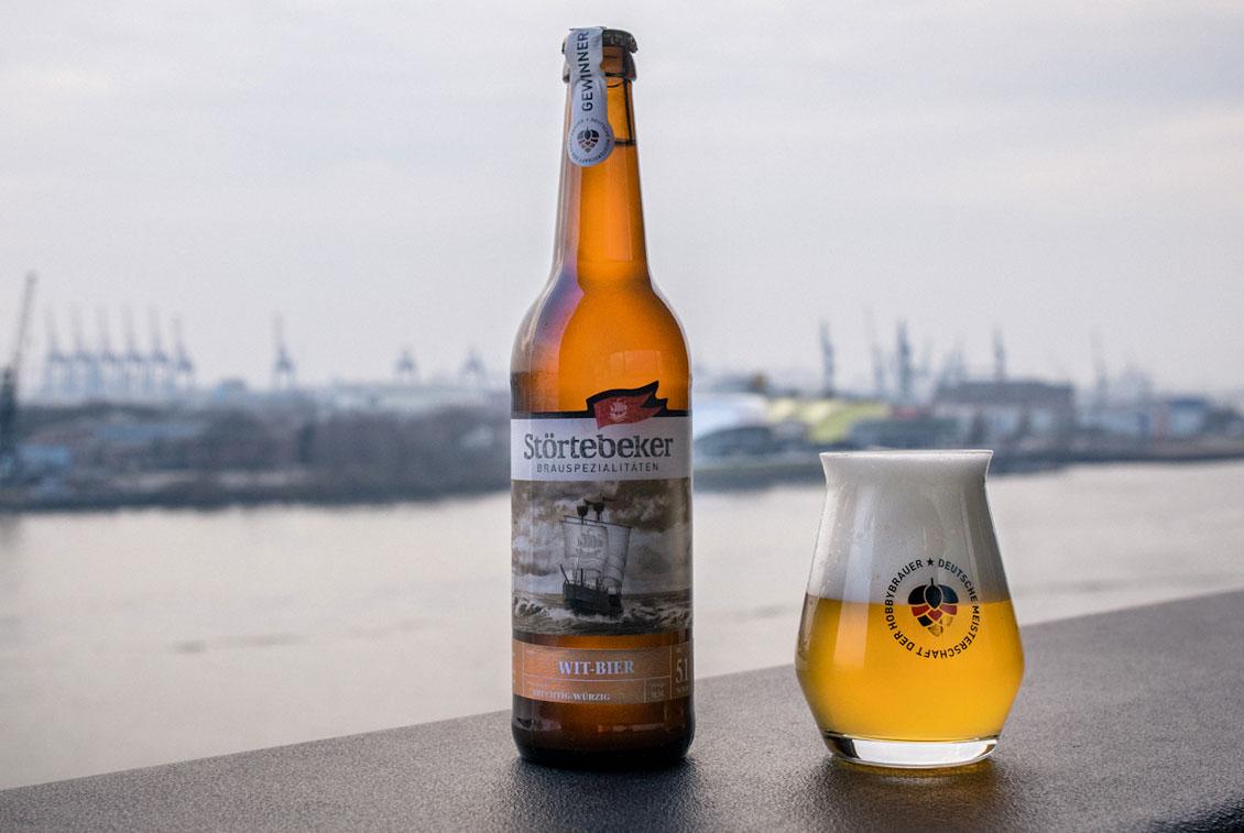 Das Gewinnerbier der 2. Deutschen Meisterschaft der Hobbybrauer – Störtebeker Wit-Bier.