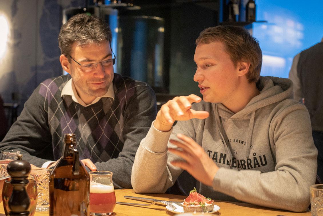Markus Krenkler und Steffen Welsch im Gespräch.