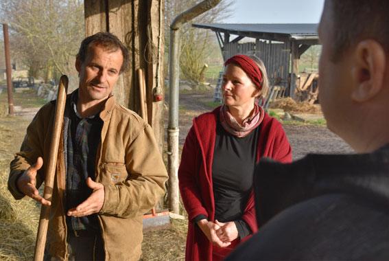 Seit 1995 bewirtschaften Ture Gustavs und Gaby Fiebig ihren Hof in Zandershagen.