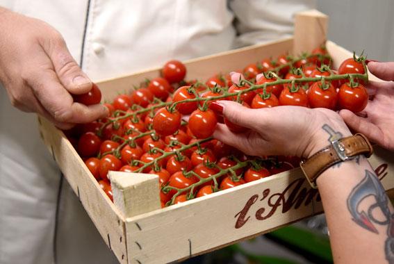 Das Obst und Gemüse stammt vorrangig aus Norddeutschland.
