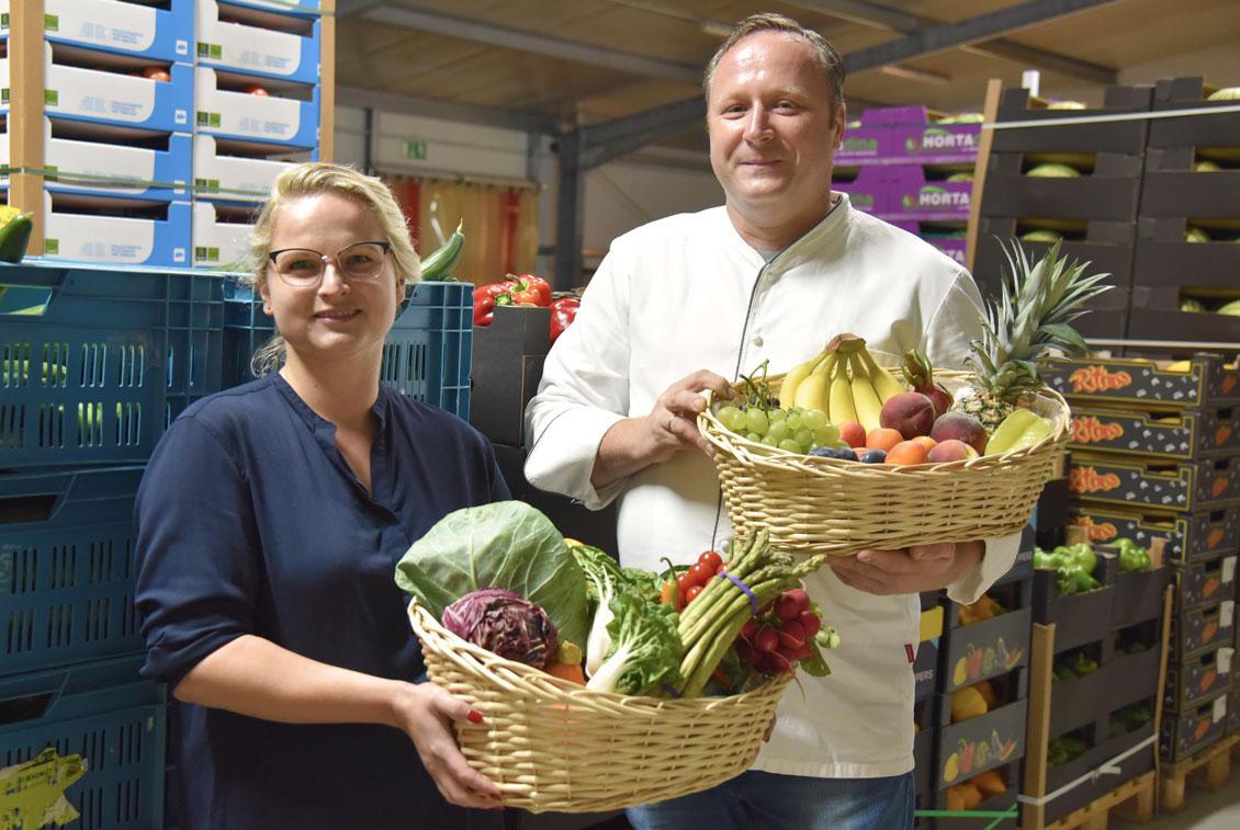 Das Braugasthaus bestellt täglich frisches Obst, Gemüse und exotische Früchte.