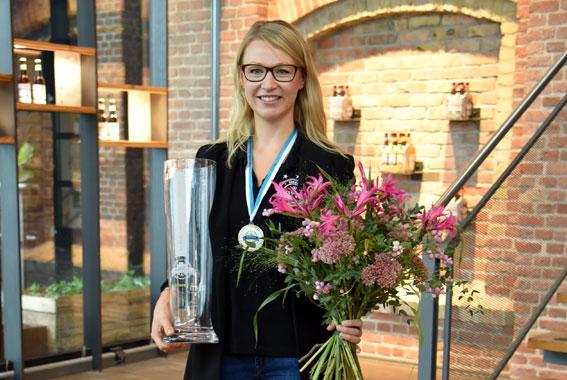 Elisa Raus – erste Frau, die den Titel Weltmeisterin der Biersommeliers gewonnen hat.