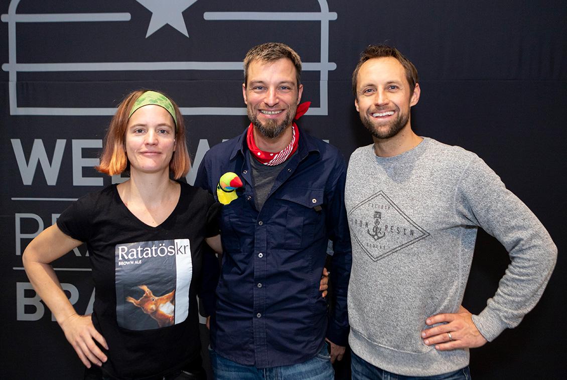 Sarah Moor, Markus Kohrt und und Sebastian Winter von Gröner Bagalut.