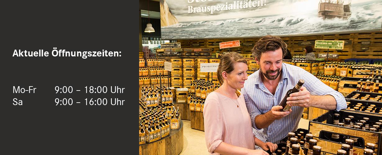 Aktuell Öffnungszeiten des Störtebeker Brauereimarktes