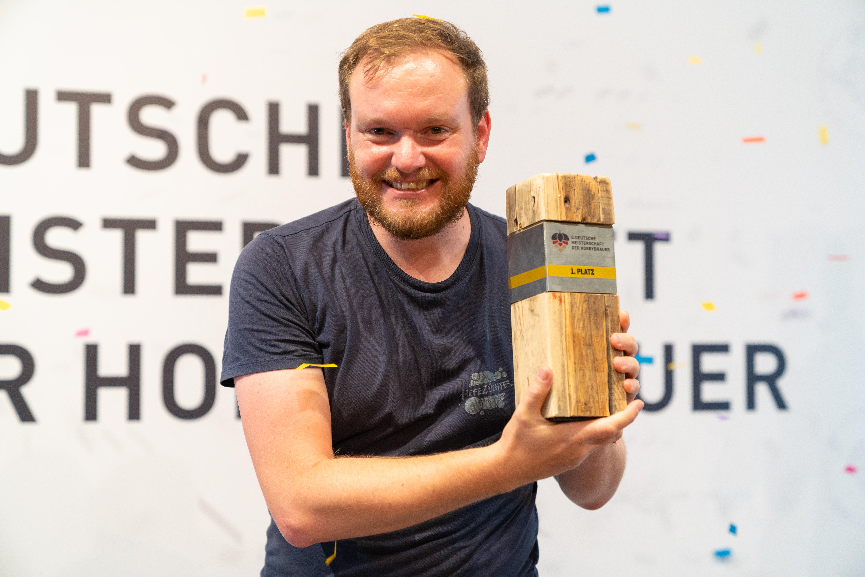 Der neue deutsche Meister unter den Hobbybrauern: Nils Lichtenberg (38) aus Aachen.