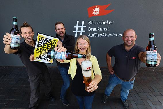 Das Störtebeker Pazifik-Ale gewinnt den World Beer Award.